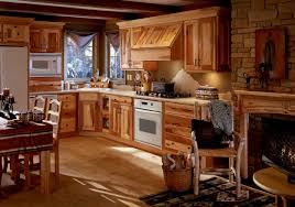 interior old fashioned cedar wooden cabinets without painted as