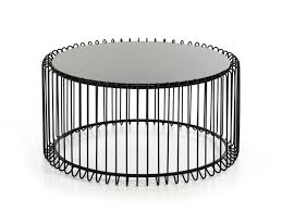 Glass Round Coffee Table by Beacon Contemporary Black Round Coffee Table