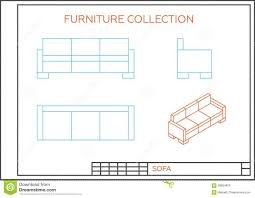 Blue Print Of A House Couch Front View Luxurious Home Design
