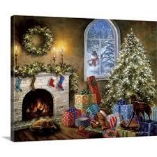 christmas wall art u0026 paintings you u0027ll love wayfair