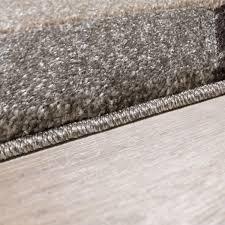 Teppich Schlafzimmer Beige Moderner Teppich Wohnzimmer Bordüre Konturenschnitt Meliert Beige
