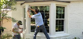 replacement windows doors and siding bow windows are similar bay window but more rounded appearance because the lite mulled degree angles