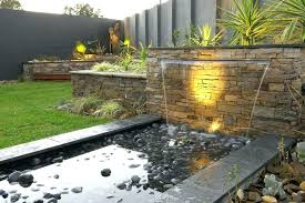 Backyard Water Feature Ideas Outdoor Waterfall Backyard Water Fountains Ideas