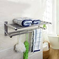 Towel Bathroom Storage Layer Bathroom Storage Rack Hanger Stainless Steel Wall
