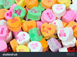 valentines day candy hearts valentines day conversation candy hearts stock photo