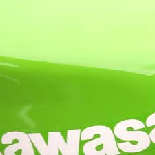 1l cellulose gloss spray paint kawasaki bike lime green colour
