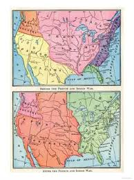 america map before and after and indian war and indian war posters and prints at