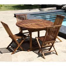 teck grade a emejing table de jardin teck ovale photos amazing house design