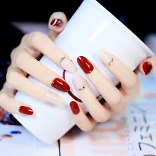 online get cheap red nails white tips aliexpress com alibaba group