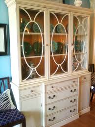 furniture white square whit galss dining room hutch for