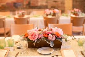 pink flowers wooden box centerpiece elizabeth anne designs the