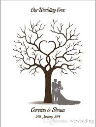wedding trees 2018 wedding guestbook fingerprint tree wedding decorations from