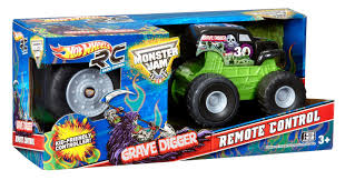 monster jam grave digger remote control truck amazon com wheels r c monster jam mini rides grave digger
