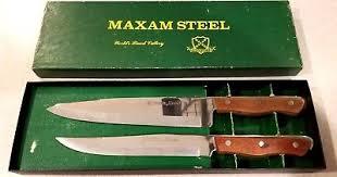 maxam kitchen knives maxam steel kitchen knives vintage carving 5 set