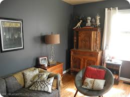 living room eclectic mid century modern behr dark ash paint knoll