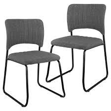 Esszimmerstuhl Textil En Casa 2x Design Stühle Textil Dunkelgrau Stuhl Lehnstuhl
