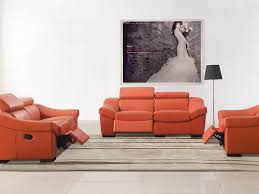 Leather Livingroom Sets Sofa 9 Pretty European Style Living Room Set In Orange