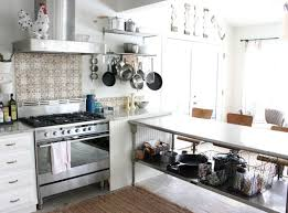 Kitchen  Magnetic Knife Storage With Stainless Steel Backsplash - Magnetic backsplash