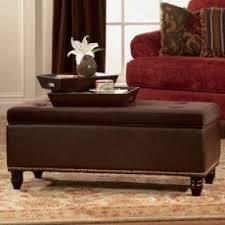 brown microfiber storage ottoman foter