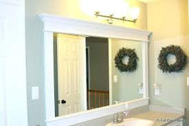 Frames For Bathroom Mirrors Lowes Mirror Framing Kit Lowes Bathroom Frames Bathroom Mirror Frames