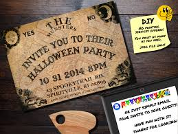halloween invitation ouija board printable invite emailable