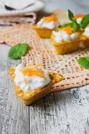 canape cottage canape with cottage cheese stock image image of table 48880257