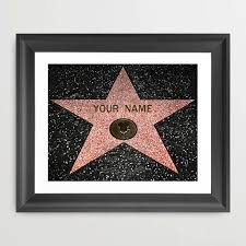 personalized gift hollywood walk of fame star fine art
