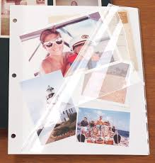 photo album page inserts white mylar 3 ring binder sheet protectors exposures
