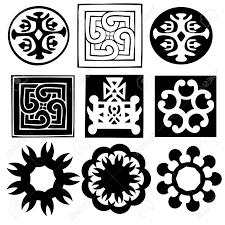 various ornaments abstract symbols vector royalty free