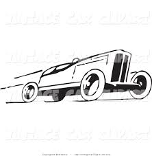 cartoon sports car black and white royalty free sports stock vintage car designs