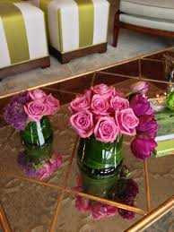 pink roses tulip coffee table arrangement nj summit florist