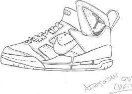 free coloring pages of air jordan 7 shoe pinterest air