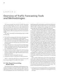 part 1 background analytical travel forecasting approaches for