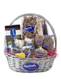 chocolate basket chocolate delights gift basket peterbrooke chocolatier