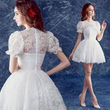 Short White Wedding Dresses Aliexpress Com Buy Country Western Style Short White Lace