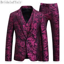 design of jacket suit latest coat pant design 2018 groom tuxedos red flowers print men