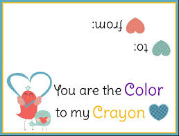 crayon valentines crayon heart and free printable one ride