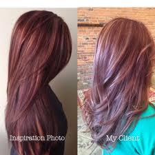 red hair highlights maroon mahogany and burgundy subtle