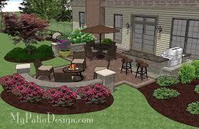 cosy backyard patio design with additional interior home