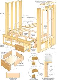 Free Building Plans by Construct A Cozy Homemade Built In Bed Diy Mattress Bed Plans