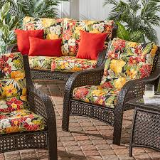decor furniture porch swing cushions with yellow patio cushions