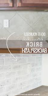 faux brick kitchen backsplash backsplash best faux brick kitchen backsplash home design
