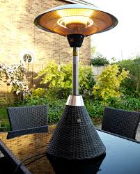 Patio Heater Lamp by La Hacienda Electric Patio Heater Height Adjustable Home Patio