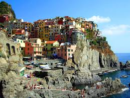 houses on the cliff at the resort in rimini italy wallpapers and