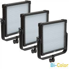 led studio lighting kit k4000s se bi color 1x1 led studio panel 3 light kit