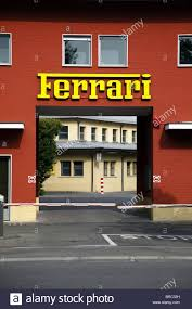 ferrari factory building ferrari factory entrance sign maranello italy maranello italy