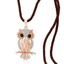 owl necklace rose gold images Necklaces lifesong jewelry jpg