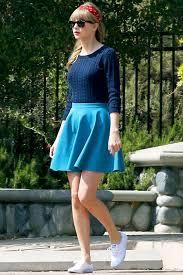 light blue skater skirt how to wear skater skirts 2018 fashiongum com