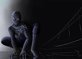 spiderman black suit wallpaper