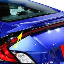 honda civic spoiler brake light honda civic coupe si factory style painted rear spoiler 2016